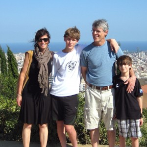 Jennifer Byrne & Family in Barcelona